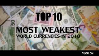 Gambar cover Top 10 Most Weakest world Currencies in 2018
