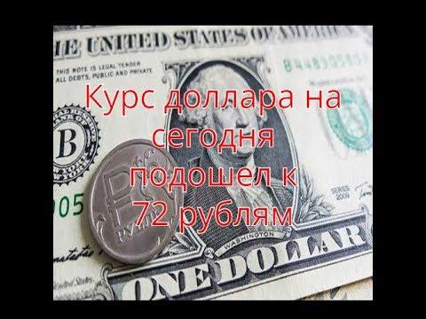 Курс доллара на сегодня подошел к отметке 72 | HOT NEWS