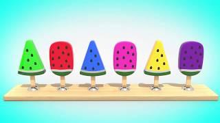 Мультфильм для малышей   Раскрашиваем Мороженое  ВолшебствоТВ