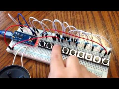 Arduino Piano - Play Melody Music on Arduino Nano , Pro Mini, Uno