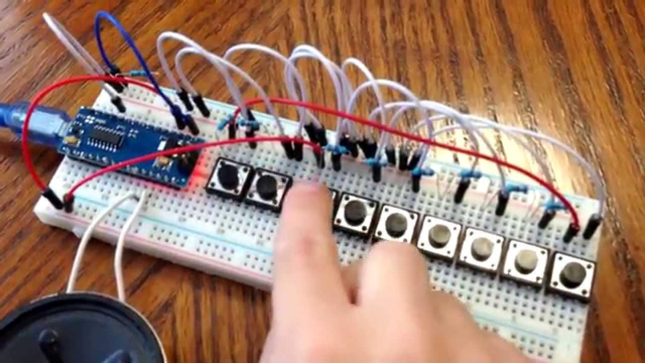 Arduino piano play melody music on nano pro
