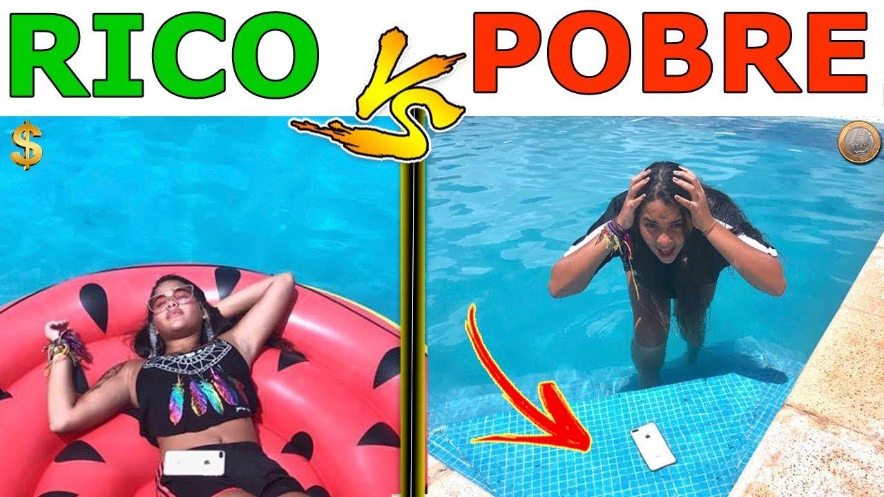 Rico vs pobre na piscina 2 - YouTube