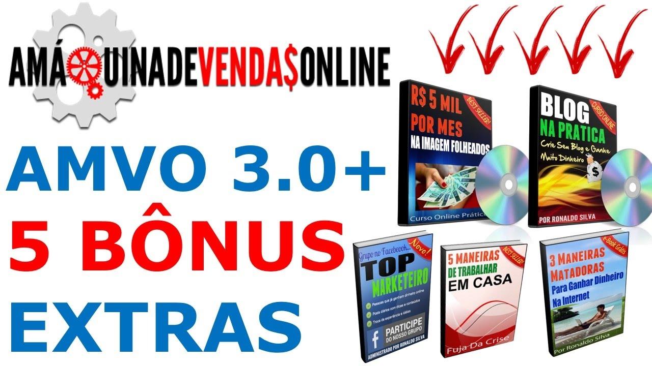 A Máquina De Vendas Online 3.0 + 5 BÔNUS EXTRAS  📦