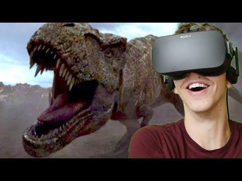 BLUE FIGHTS REXY!!! - Jurassic World: Blue | Oculus VR