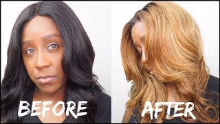 HOW TO BLEACH BLACK HAIR TO BLONDE HAIR IN 20 MINS!! | NO DAMAGE!! | 2 STEP PROCESS | FT VRBEST HAIR