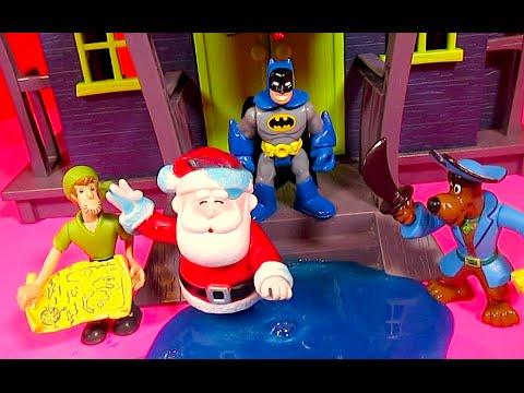 SCOOBY DOO & SHAGGY Slime Santa SCOOBY DOO Haunted Mansion Batman [Imaginext] Chases Joker PARODY
