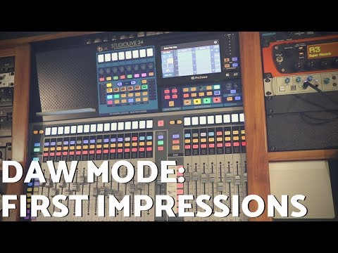 StudioLive DAW Mode – First Impressions