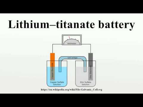 Lithium–titanate battery