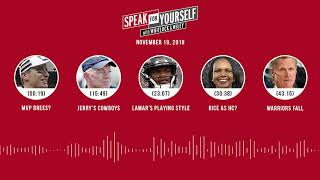 SPEAK FOR YOURSELF Audio Podcast (11.19.18)with Marcellus Wiley, Jason Whitlock | SPEAK FOR YOURSELF