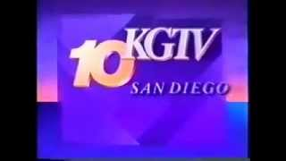 KGTV 10 News 6AM Open 1993