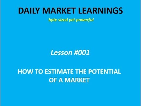 How To Estimate The Potential Of A Market   School Of Market Studies