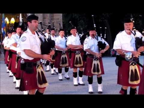 Irish Thunder Pipes & Drums play the Chapel at Valley Forge Park  8-14-13