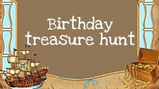 Kid's birthday surprise... Treasure hunt.. cute baby's birthday. kids birthday celebration