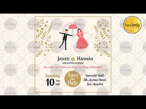 Save the Date Video Invitation - Wedding, Marriage Animated Whatsapp