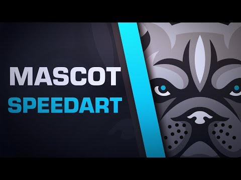 Mascot Logo Speedart - Bully Pitbull (Animal Focused Merch)