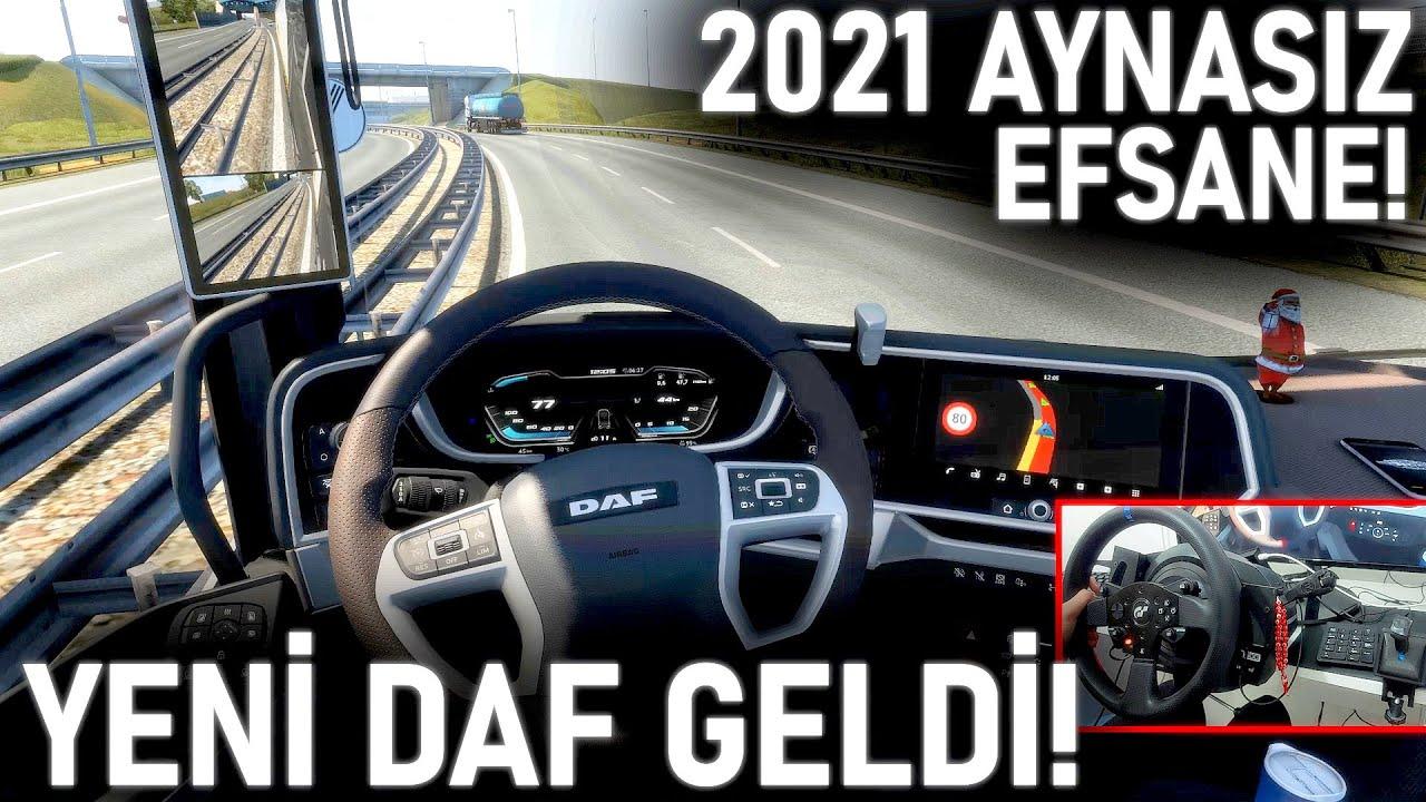 YENİ 2021 DAF GELDİ! - AYNASIZ TIR OYUNDA - ETS 2 Yeni DAF XG!