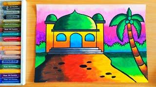 Belajar Menggambar Dan Mewarnai Masjid Untuk Anak Anak Yang Mudah Youtube