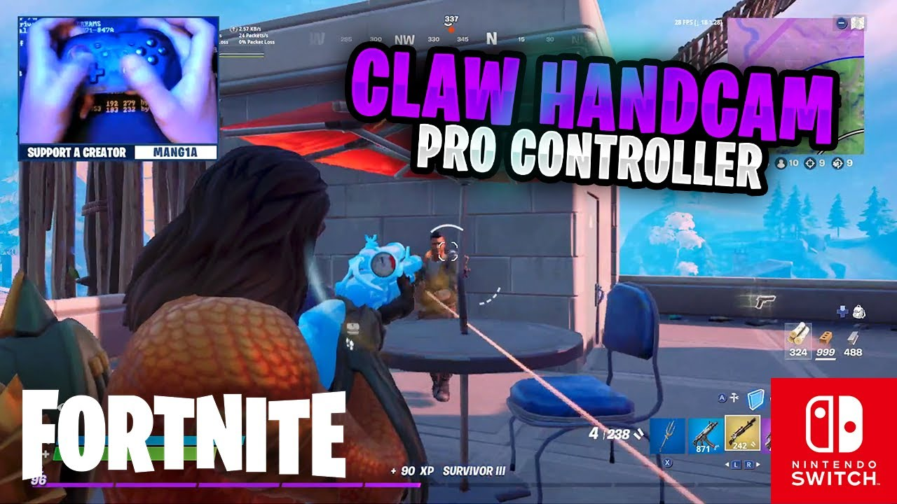 CLAW HANDCAM - Fortnite on the Nintendo Switch Pro Controller #88