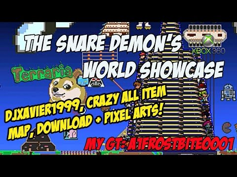 The Snare Demon's Terraria 1.3 Map Showcase | EVERY Item, Insane Pixel Arts - Xbox 360 w/DOWNLOAD!