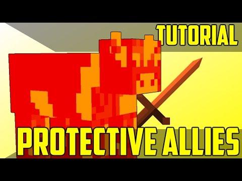 Make Mobs Fight For You (Custom NPCs #1) - Minecraft Command Block Tutorial [1.11][1.10][1.9]