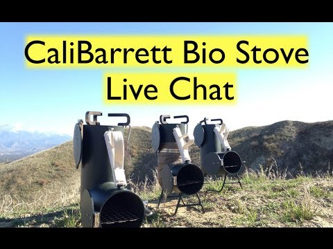 Live Chat with Johnny Barrett from CaliBarrett. Creator of the Bio Stove
