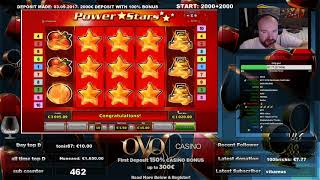 Power Stars Slot Surprises Me With Super Big Win!!