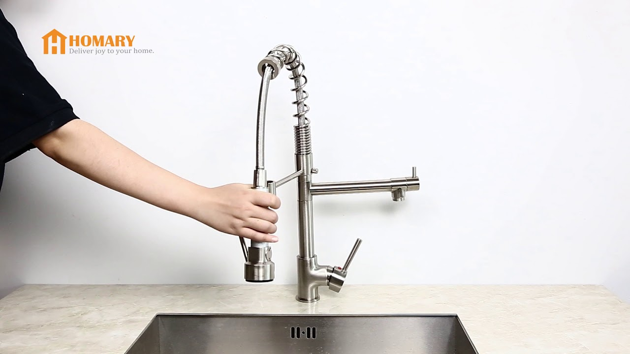 Brewst Pull Out Spray Kitchen Faucet Brushed Nickel Review
