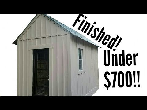 Building a Shed on a Budget part 7!! (DIY budget plywood storage shed)