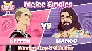 Leffen vs Mang0 - Winners Top 8 Qualifier Melee Singles - Smash Summit 9 | Fox vs Falco