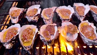 Chinese Street Food  | Grilled Oysters with Garlic Sauce(Popular Chinese Style)