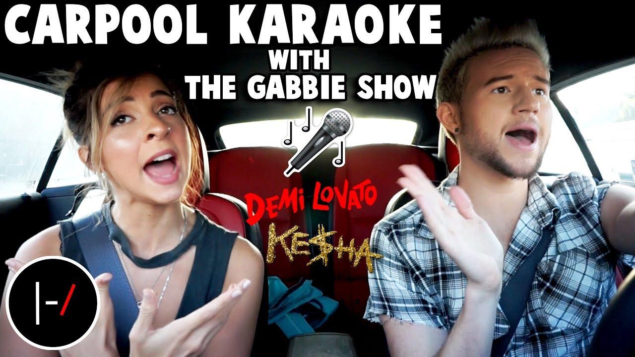 Carpool karaoke w the gabbie show youtube for Car pool karaoke show