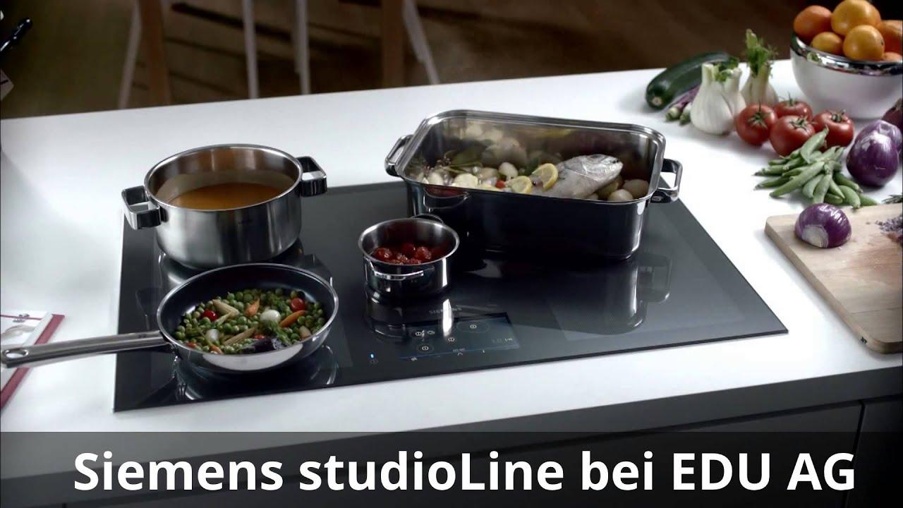 Siemens Studioline Kochplatten Mit Vollflacheninduktion Youtube