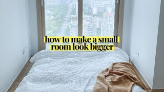 This is How To Make Your Small Space Look & Feel BIGGER | Decor & Design Tips For Small Spaces