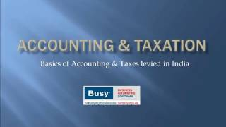 Lesson 1 - Introduction to Accounting and Taxation