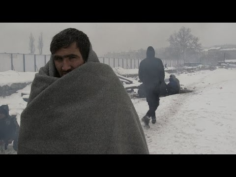 Migrants Struggle in Freezing Temperatures in Serbia