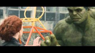 Black Widow & Hulk Romantic Scenes - Avengers  Age of Ultron
