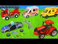 Fire Truck, Tractor, Police Cars, Garbage Trucks, Excavator & Ambulance Toy Vehicles for Kids