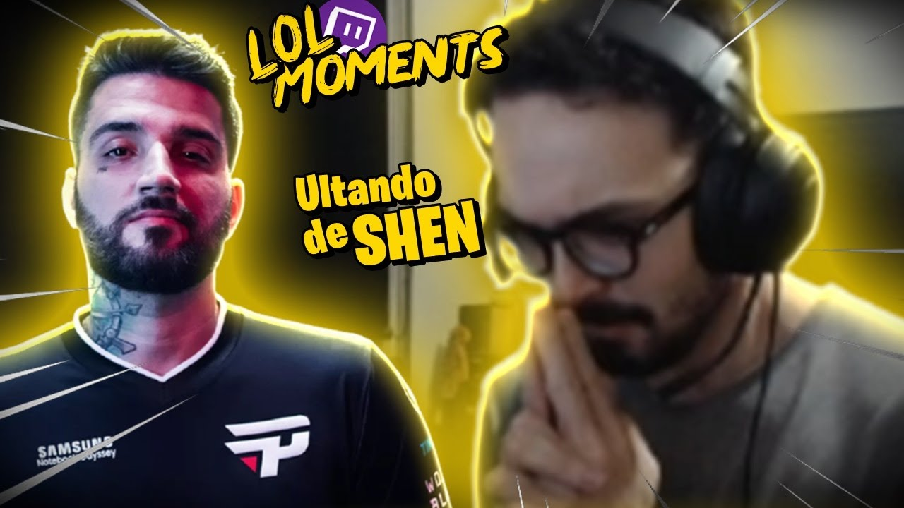 TT CRIMINOSO & MYLON IMITANDO O SHEN | LOL Moments BR