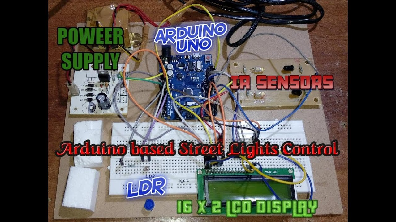 Arduino Based Street Lights Control Using Ldr And Counting Vehicles Automatic Led Emergency Light Circuit