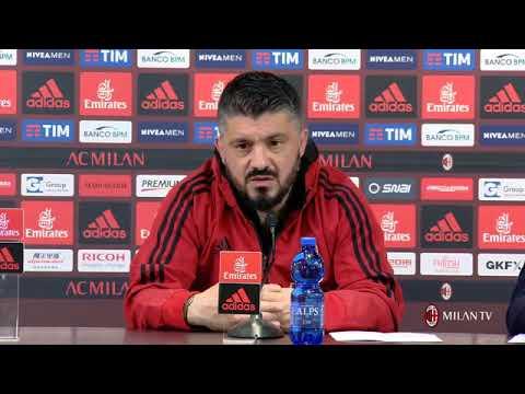 Gattuso conferenza stampa pre Roma - Milan del 24.02.2018