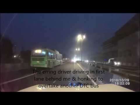 Dangerous Driving by a DTC bus driver- Road Safety Activism