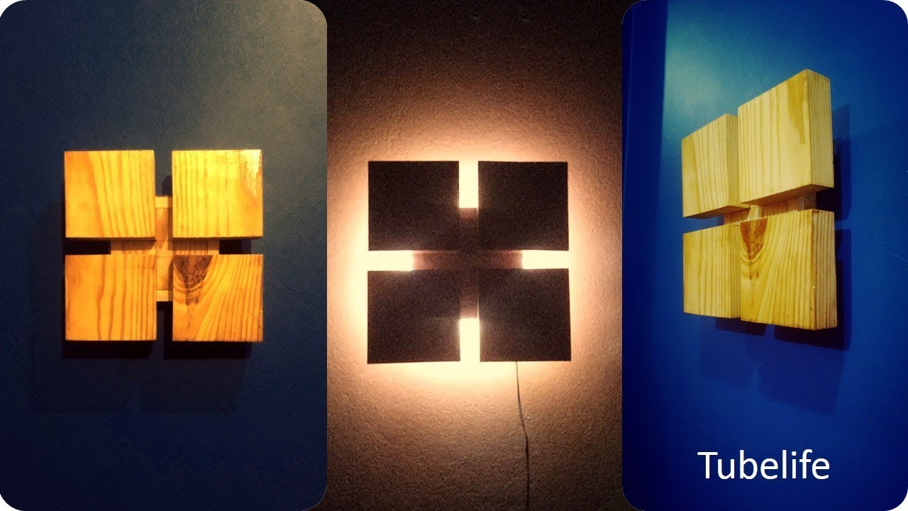 Wooden Wall Lamp Lampshade Ideas Room Decor Youtube