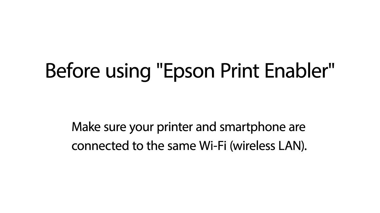 How to Print from Android Phone using Epson Print Enabler NPD6178