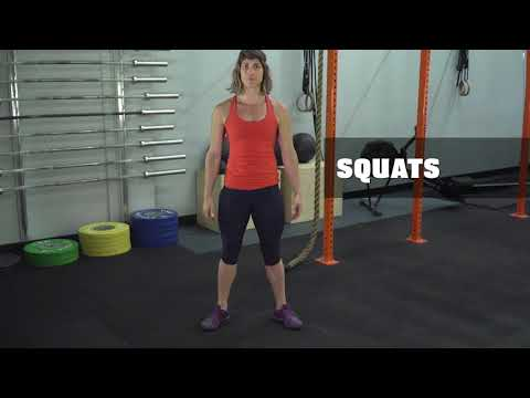 Workout 1: Squats + Burpees - High-volume workout that you pace to your fitness level