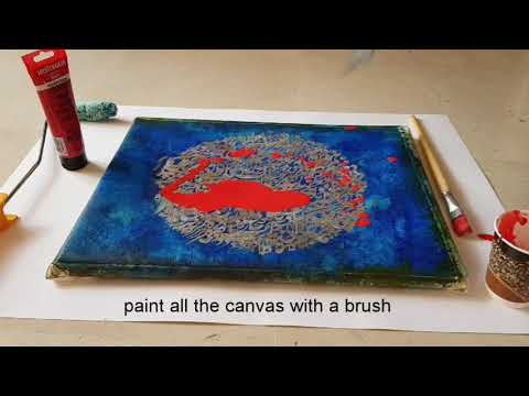 #painting#acrylic#drawing#art Fastest way to paint whole canvas UNIFORMLY!
