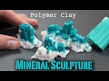 Polymer Clay Gemstone Dioptase   How to Sculpt Tutorial