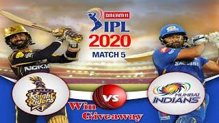 Watch live stream of the Dream11 IPL 2020 match between KKR Vs MI