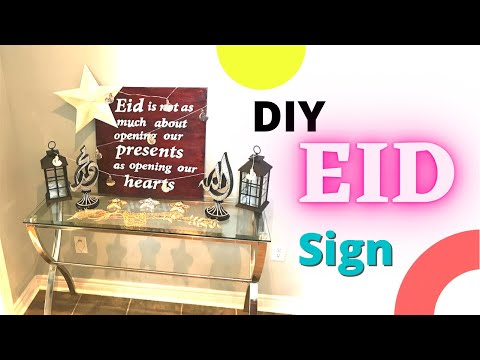DIY! Decorative Wood Sign