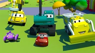 Construction Squad: the Dump Truck, the Crane and the Excavator the Baby Cars Race in Car City