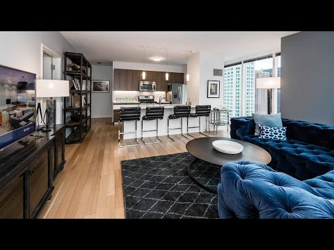 Tour a new luxury 2-bedroom, 2-bath at Streeterville's North Water apartments
